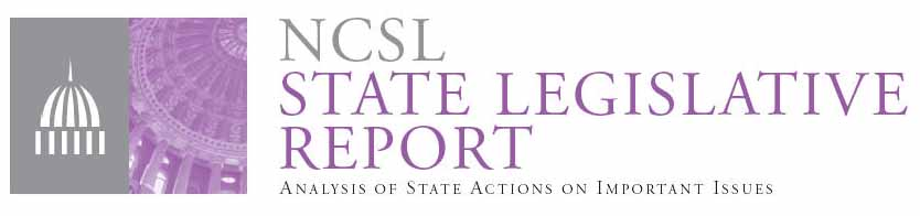 NCSL State Legislative Report header